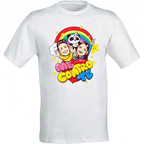 T-shirt maglietta maglia me contro te ragazzi 100% poliestere lavabile in lavatrice (12/14 anni)