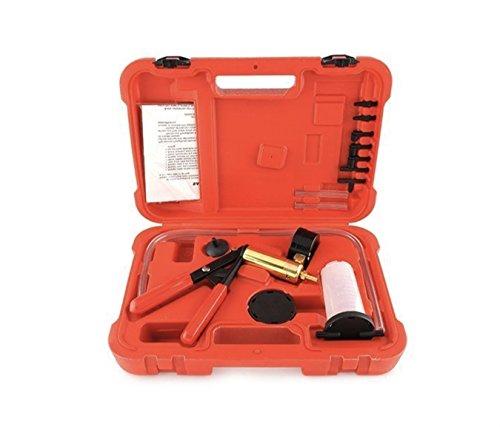 MVPower - Bomba de depresión, purga de líquido de frenos, comprobador de vacío para coche, herramienta manual, maletín rojo