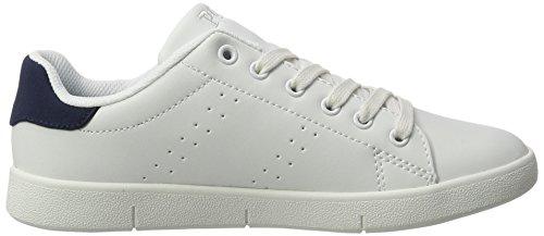 Ralph Lauren - Bilton, Pantofole Unisex – Bambini Weiß (White - Navy Leather)