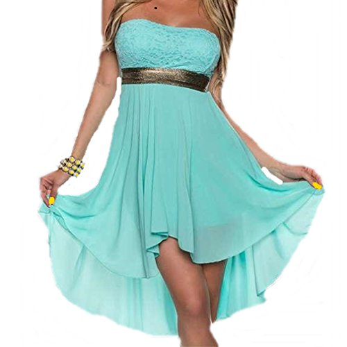 CMFashion Damen Kleid Club Sommer Festlich Abend Chiffon Party Cocktailkleid Kurz Empire
