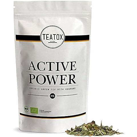 TEATOX Active Power, té verde orgánico con guarana, bolsa de recarga
