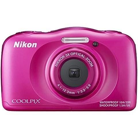Nikon Coolpix S33 - Cámara digital compacta de 13.2 MP (pantalla de 2.7