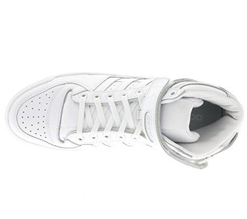 adidas Herren Forum Mid Refined Basketballschuhe Mehrfarbig (Ftwr White/ftwr White/silver Met.)