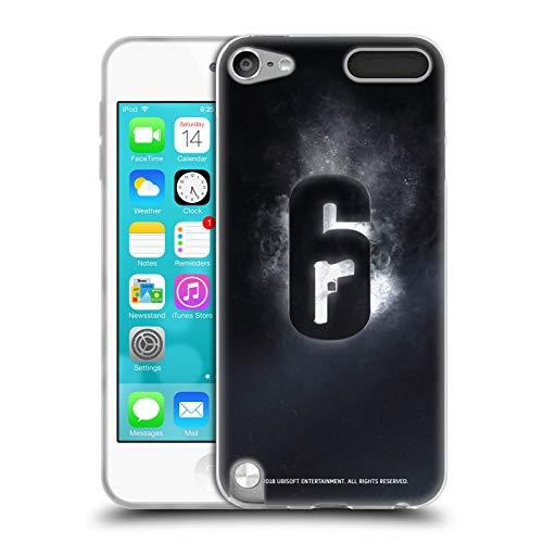 Head Case Designs Offizielle Tom Clancy's Rainbow Six Siege Gluehen Logo Soft Gel Huelle kompatibel mit Apple iPod Touch 5G 5th Gen Sieg Ipod