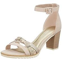 MARCO TOZZI Women's 2-2-28776-24 Ankle Strap Sandals, Beige (Dune Comb 435), 6.5 UK