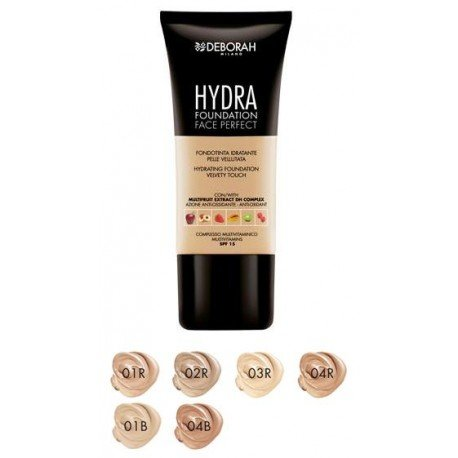 deborah-milano-hydra-foundation-italian-made-in-shades-of-beige-and-rose-extracts-of-6-fruits-anti-o