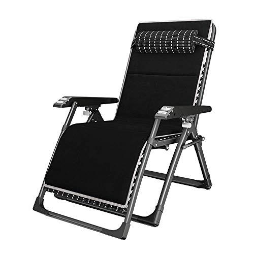 CCDZDM Schaukelstuhl Klappsessel Verstellbarer Garten Sonnenliegen Liegestühle, Freizeitsessel Für Ältere Menschen, Summer Beach Balkonstühle, Abnehmbares Kissen (Größe: Stuhl + Matte)