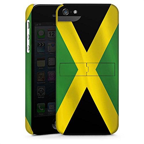 Apple iPhone X Silikon Hülle Case Schutzhülle Jamaica Jamaika Flagge Premium Case StandUp