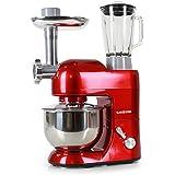 Klarstein Lucia Rossa - Robot de cocina (Rojo, Acero inoxidable)