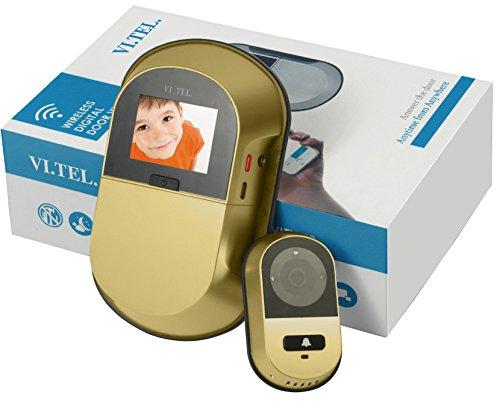 Vi.Tel. E0551 40 Spioncino Digitale Wi-Fi, Oro