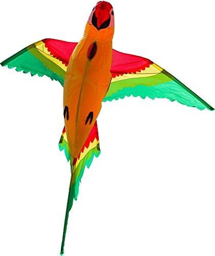 HQ 106514 - Parrot 3D Einleiner, ab 8 Jahren, 110x118cm, inkl. 17kp Polyesterschnur 40m auf Spule, 2-4 Beaufort -