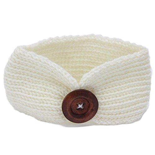 KanLin Baby Strickendes Stirnband Säuglingskind Mädchen Bowknot Stirnband (Art Schwarz Kostüm Clip Weiß Und)