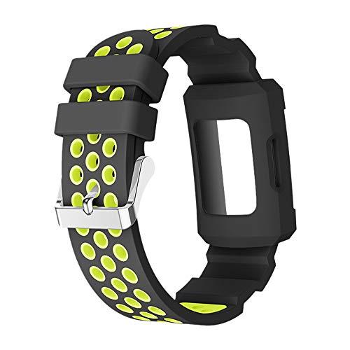 LCLrute Silikagel Schnallen Band Bügel ArmbandBelt + Watch Fall für Fitbit Gebühr 3 (Gelb)