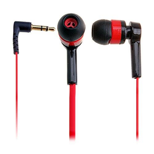 broadroot mejor auriculares in-ear rojo auriculares Mini auriculares barato para ipod MP3MP4MP5