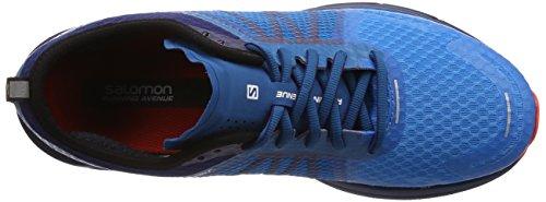 Salomon Herren Sonic RA Max Traillaufschuhe, Blau, 49.3 EU mehrfarbig (Hawaiian Surf/Medieval Blue/Fiery C 000)