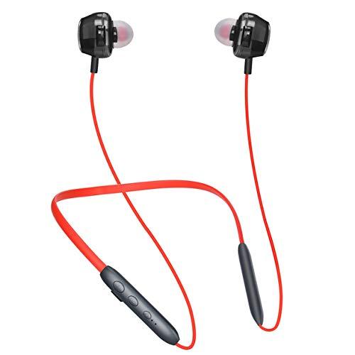 MXECO Casque mains libres Réduction du bruit Sport Running Écouteurs avec câble Écouteurs sans fil Écouteurs (Noir)
