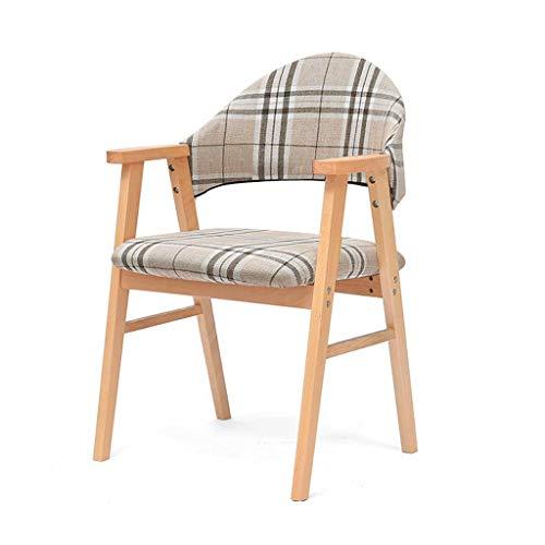 Unbekannt LINGZHIGAN Studie Stuhl Massivholz Einfache Rückenlehne Schreibtisch Stuhl Freizeit Armlehne Moderne Stuhl Erwachsene Esszimmerstuhl (Farbe : D)