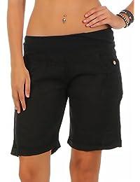 malito leichte Leinenshorts kurze Hose Hotpants 3001 Damen