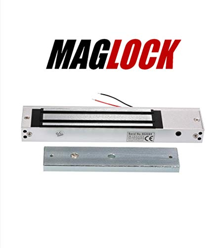 SBJ MAGLOCK Metal Electro Magnetic Lock/EM Lock for Single Door 600 LBS 12V DC with LED (Silver)