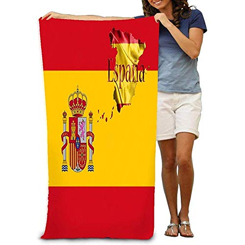 Toallas de baño,Juegos de toallas Bath Towel Beach Towel Comfortable Quick Drying Bath Towels for Home Bathroom Pool and Gym 80 X 130CM Spanish National Flag map Country Name Written d V bathroom tra