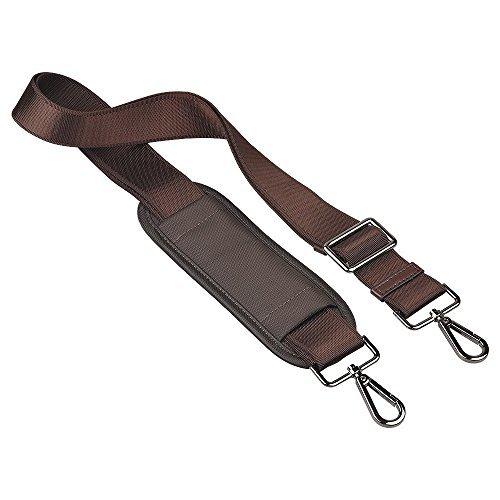 Qishare Universal Ersatz Schultergurt Abnehmbarer weicher, gepolsterter Verstellbarer Gürtel mit Metall Drehhaken für Gepäck Duffel Computertaschen Laptop Tasche Crossbody Tasche (Braun,150cm)