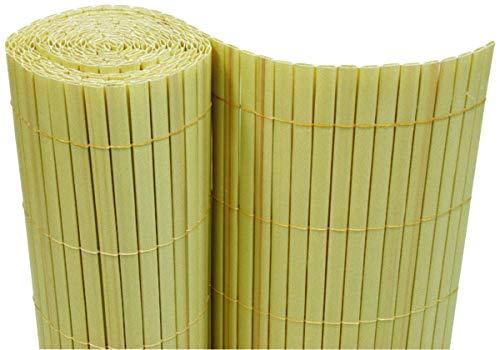 Dynamic24 PVC Sichtschutzmatte 180x500 cm Bambus Balkon Sichtschutz Zaun Windschutz