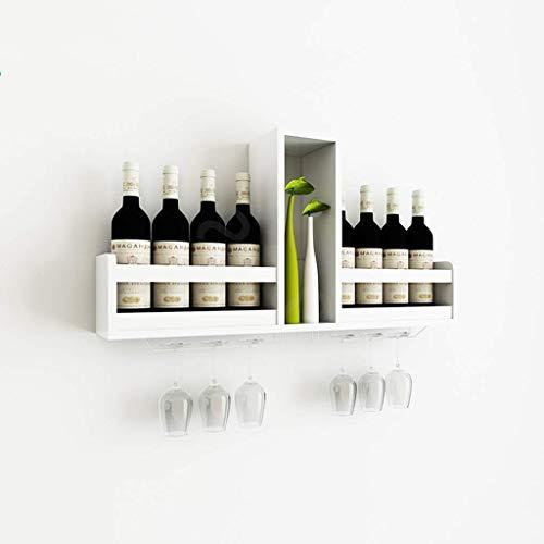 TUYIROE Weinregal Wandbehang Einfache Weinschrank Haushalt Holzregal Restaurant Tisch Wand Weinschrank