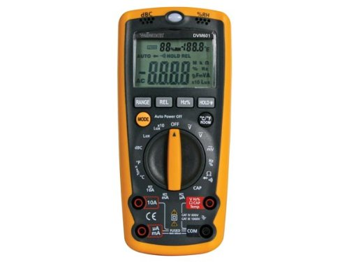 Panel meters & Multimeters 410170 Digital-Multimeter, DVM601, 6-in-1, Allround-Messinstrument, 170 mm x 78 mm x 48 mm Maße
