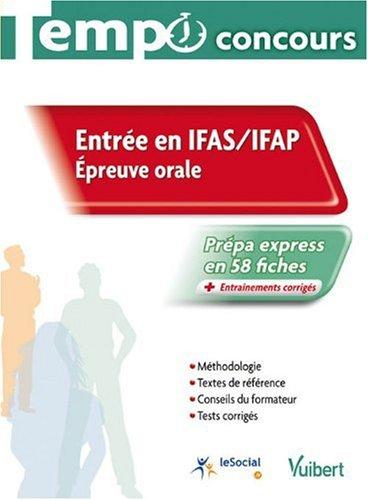 Entrée IFAS / IFAP : Epreuves orale, collection tempo concours