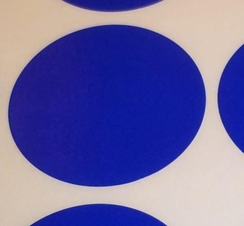 Pack Of 100 Grande 63mm Redondo / Circular Código De Color Lunares En blanco Precio Pegatinas Etiquetas - Elija Su Color/s (Azul Oscuro)
