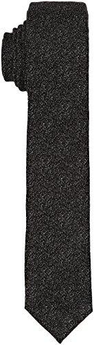 Calvin Klein Herren Krawatte Naples, Nero (Perfect Black), Einheitsgröße