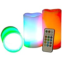 LUMA LED Candle With Remote Control And Timer, Set Of 3 - Vanilla Scent