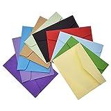 Febbya Briefumschläge Mini,100 Stücke Geschenkkarte Umschläge Sweet Multi-Nutzung für Hochzeit Geburtstag Geschenkkarte Party 11 * 8CM