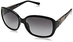 GUESS Womens Acetate Rectangle Square Sunglasses, 01B, 60 mm
