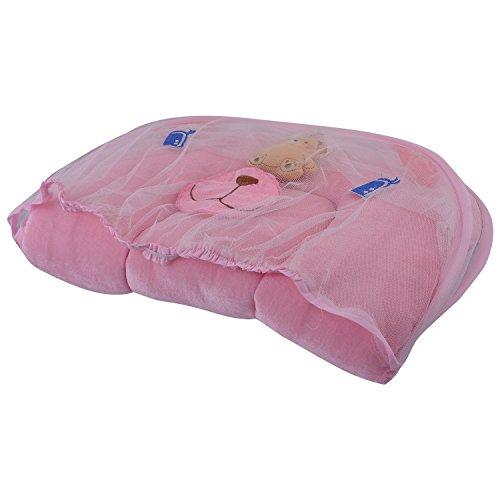 Mommas Baby INDIA Mommas Baby India Baby Bed With Net Velvet Pink