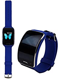 Malloom reemplazo correa de reloj pulsera muñequera bandas para Samsung Galaxy Gear S R750 (azul)