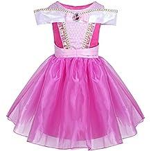 Freebily Disfraz de Princesa Vestido de Fiesta Bautizo Ceremonia para Niña Vestido Infantil de Fiesta Carnaval