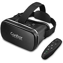Canbor Casque VR,Lunettes 3D VR Box Goggles Casque de Réalité Virtuelle VR Boite pour Films Vidéo Jeux 3D pour Apple iPhone, Samsung Sony HTC Huawei et Autres Smartphones