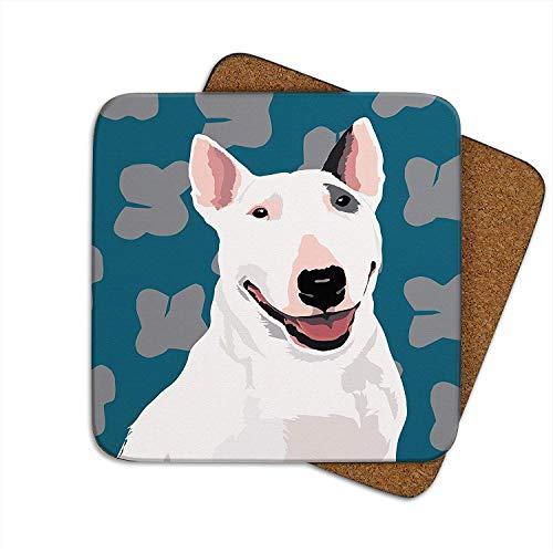 British Bull Terrier–Set aus 4Untersetzern–Leslie Gerry Animal GESCHENKE