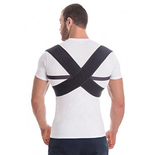 Haltungskorrektur Geradehalter Schulter Rücken Haltungsbandage Posture Corrector Haltungstrainer mit verstellbare Größe für Männer und Frauen,verstellbar aus dem hochwertigsten Neopren Schwarz Large