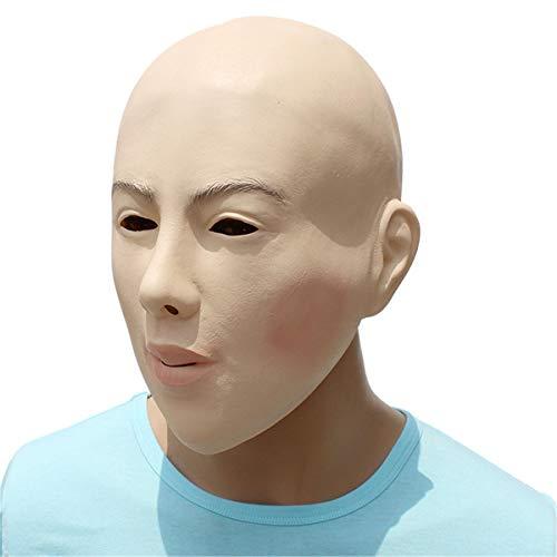 Reiten Gesicht Latex Maske Kostüm Halloween Kostüm Party Living Doll - Living Doll Kostüm