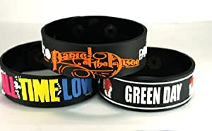 "All Time Low ""Green Day"" Panic! At The Disco Atgddi 3 Armband, 3 Stück"