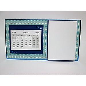 Tischkalender, Kalender + Notizblock 2018