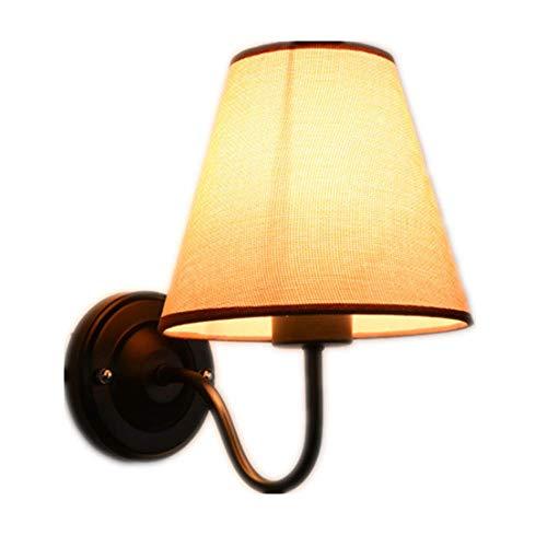 Zhongyi american tessuto ombra parete lampada semplicità creativa soggiorno camera da letto comodino lampada hotel europeo camera parete lampada