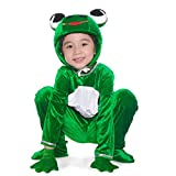 LOLANTA Enfant Panoplie de Grenouille Verte Costume de Grenouille avec Capuche et...
