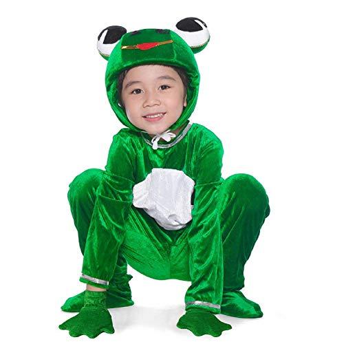 LOLANTA Deluxe Kind Unisex Froschprinz Tier Kostüme für Kinder Schule Spielen Party befestigen Schuhabdeckung - Kinder Frosch Kostüm Muster