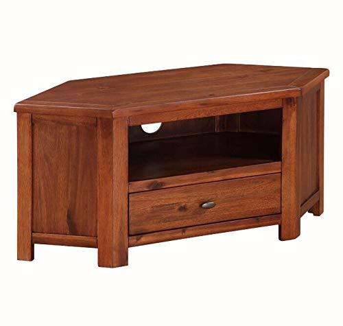 Generic TV-Ständer für alle TV-TV-CABI-Holz, dunkel und massiv, klein -