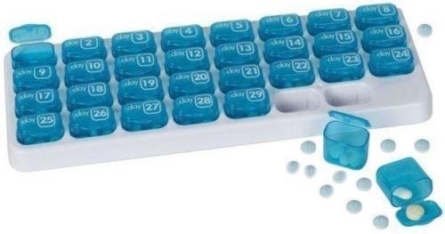Pillendose für einen Monat (31Tage) mit Deckel, Medikamentenspender (Monatliche Pille Veranstalter)
