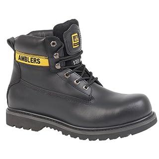 Amblers Unisex Steel FS9 Steel Toe Cap Boot / Womens Boots (5 UK) (Black)