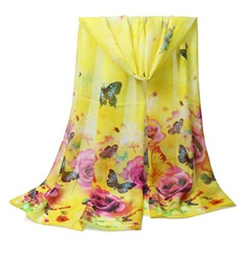 Aloiness sciarpa stole foulard donna sciarpe ideale per abiti da sera, matrimoni, feste, per damigella d'onore, sposa o vestiti da sposa o prom proms